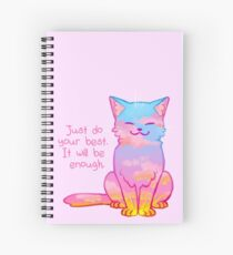 """Your Best Is Enough"" Sunset Cat Spiral Notebook"