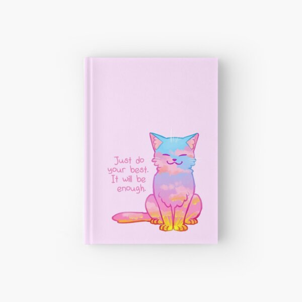 """Your Best Is Enough"" Sunset Cat Hardcover Journal"
