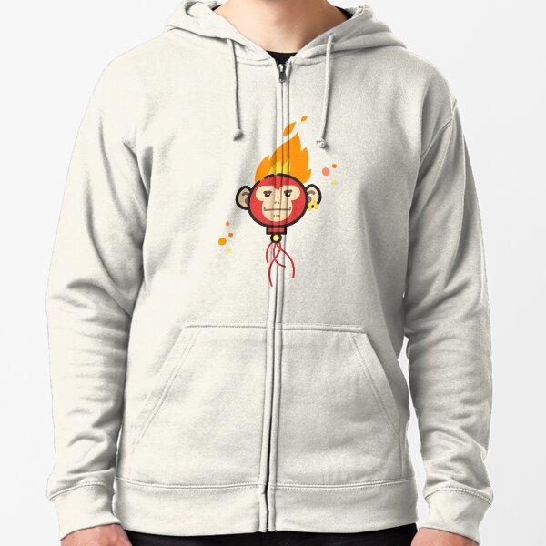 Fire Monkey Zipped Hoodie
