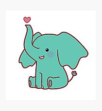 Heart Elephant Photographic Print