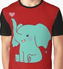 Heart Elephant Graphic T-Shirt