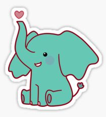 Heart Elephant Sticker