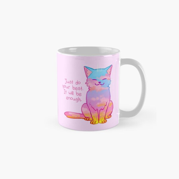 """""""Your Best Is Enough"""" Sunset Cat Classic Mug"""