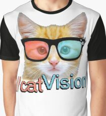 Cat Vision Graphic T-Shirt