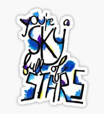 Sky Full of Stars (painted) Sticker