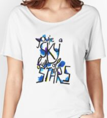 Sky Full of Stars (painted) Women's Relaxed Fit T-Shirt