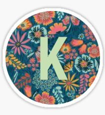 K letter monogram Sticker