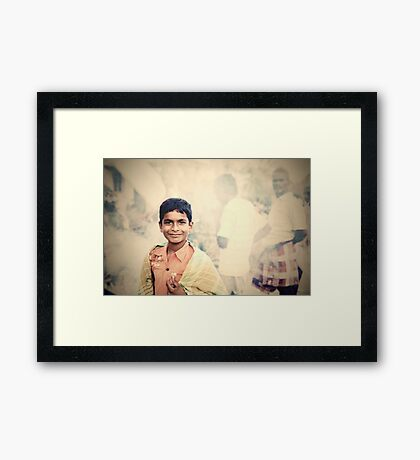 On Becoming a Man Framed Print
