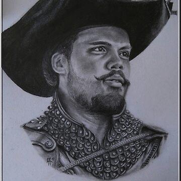 «Porthos et son chapeau» par Ebm36