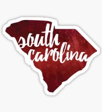 South Carolina - red watercolor Sticker