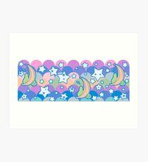 Rainbow Star Fruit Pattern Art Print