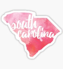 South Carolina - pink watercolor Sticker