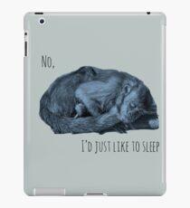 sleeping monkey iPad Case/Skin