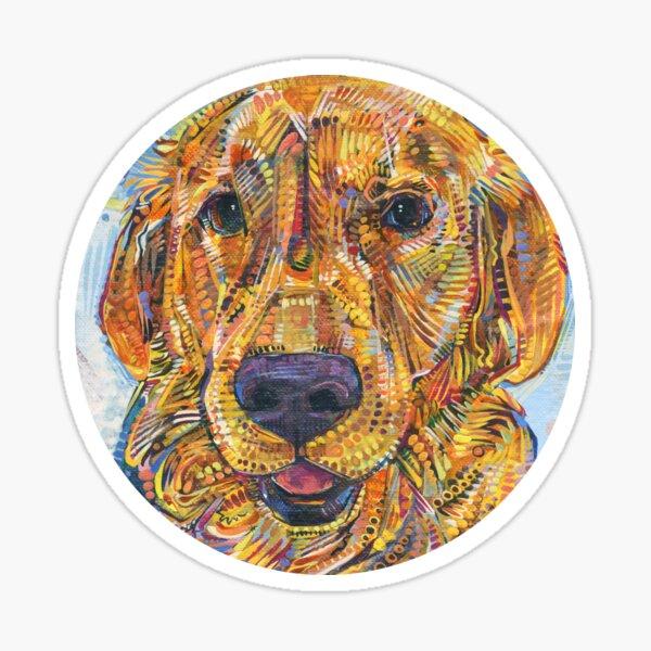 Golden Retriever Painting - 2016 Sticker