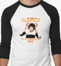 Clue Mrs White Flames Men's Baseball ¾ T-Shirt