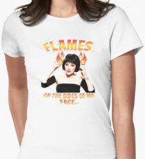 Clue Mrs White Flames Women's Fitted T-Shirt