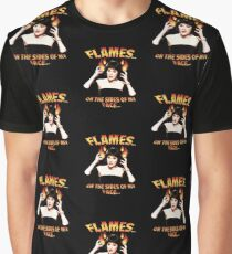 Clue Mrs White Flames Graphic T-Shirt