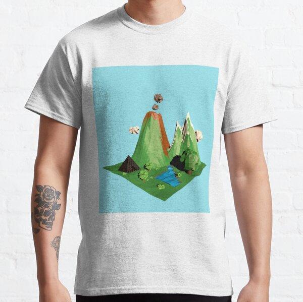 Low poly Landscape Classic T-Shirt