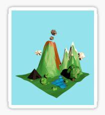 Low poly Landscape Sticker