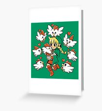 Linkle the Cucco Queen  Greeting Card