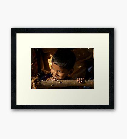 New Year's Light Framed Print
