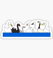 Seven Swans a Swimming Sticker