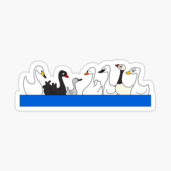 Seven Swans a Swimming Sticker