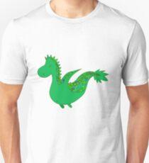 Cute cartoon dragon flying. T-Shirt