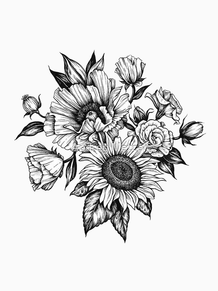 flores en tinta de AUDREYHELLADOPE