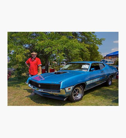 Robert et sa Ford Torino GT Photographic Print