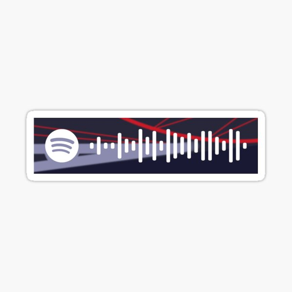 Wilbur's Your City Gave Me Asthma Spotify Code +more Glossy Sticker