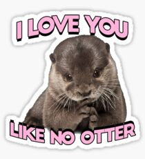I love you like no otter Sticker
