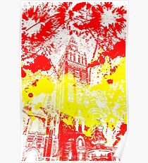 The Giralda - Spanish Flag Poster