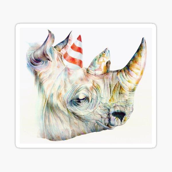 Rhino Party Sticker