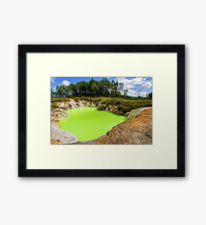Devil's Bath at Wai-O-Tapu Geothermal Wonderland, NZ Framed Print