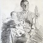 Working sketch for Babysitting by Michael Haslam