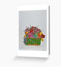 Flowers/15 - Basket/1 Greeting Card