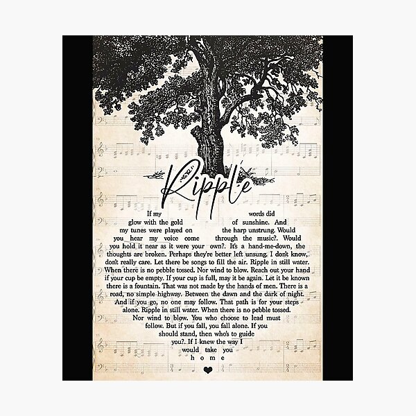 Ripple-If-my-words-did-glow-with-the-gold-of-sunshine Photographic Print