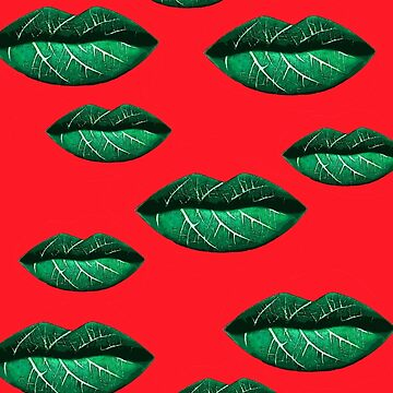 Green Lips Pattern by piciareiss