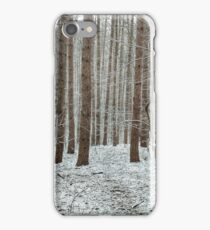 April snowstorm on pines iPhone Case/Skin