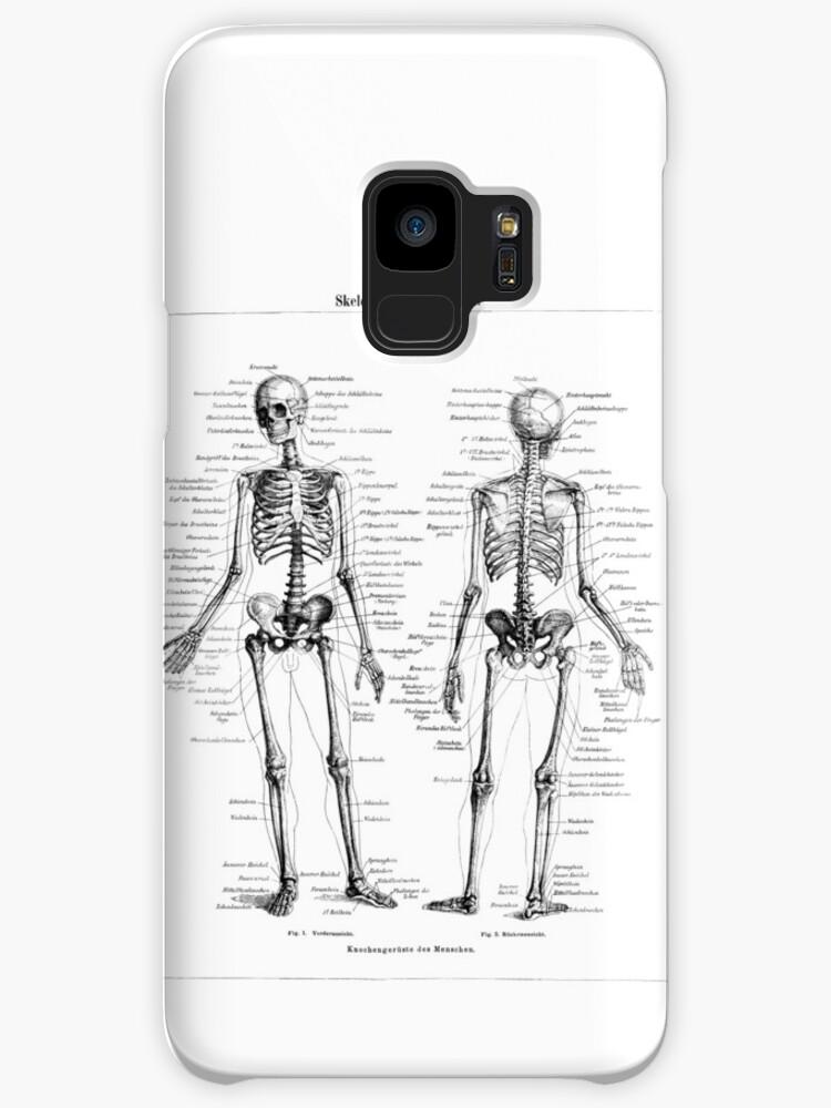 Fundas y vinilos para Samsung Galaxy «Esqueleto humano etiquetado ...