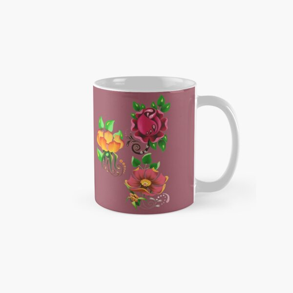 FLORAL ~ Folkart Roses for Zipped Hoodies by tasmanianartist 05012021 Classic Mug