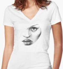KATE Women's Fitted V-Neck T-Shirt