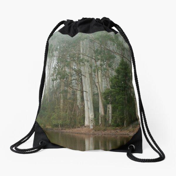 Misty Lake Drawstring Bag