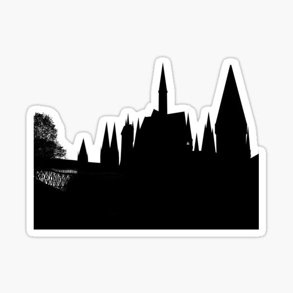 Silueta del castillo Pegatina