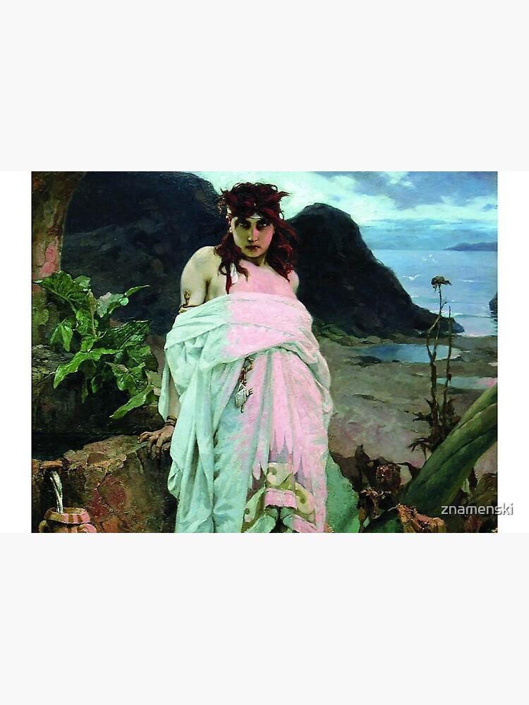 #People, #art, #nymph, #painting, veil, tree, religion, portrait, fashion, vertical by znamenski