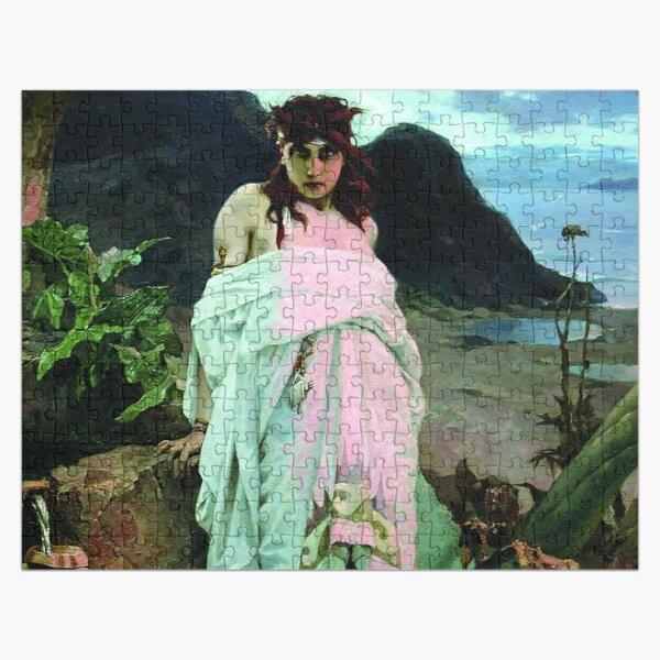 #People, #art, #nymph, #painting, veil, tree, religion, portrait, fashion, vertical Jigsaw Puzzle