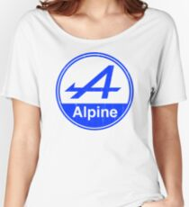 Alpine Blue Vintage Graphic Women's Relaxed Fit T-Shirt