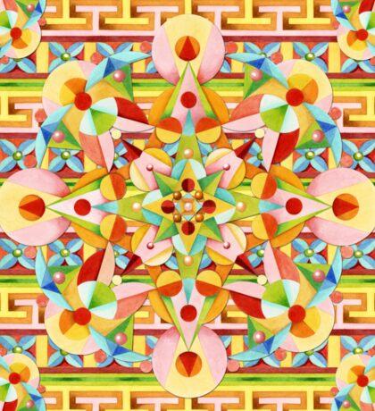 Rainbow Fiesta Mandala Sticker