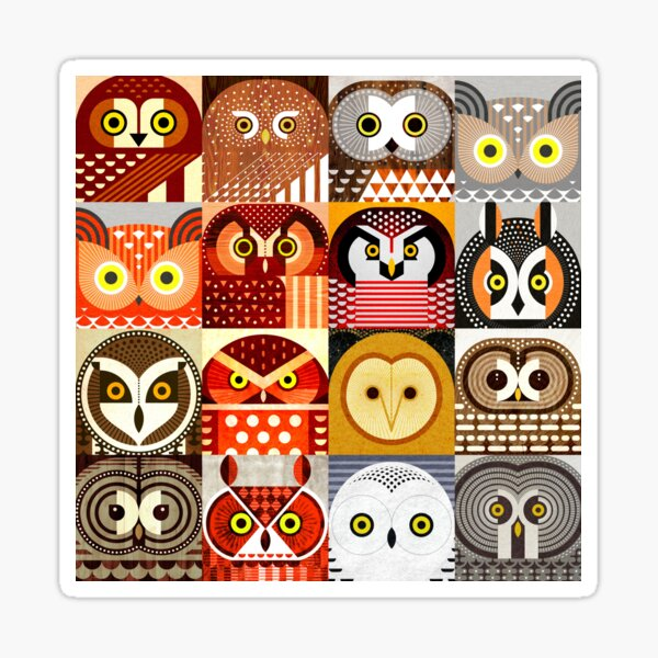 North American Owls Sticker